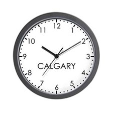 CALGARY Modern Newsroom Wall Clock