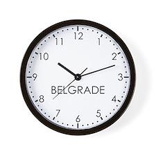 BELGRADE Modern Newsroom Wall Clock