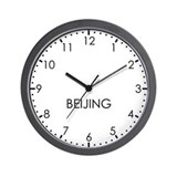 BEIJING Modern Newsroom Wall Clock