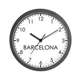 BARCELONA Modern Newsroom Wall Clock