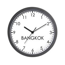 BANGKOK Modern Newsroom Wall Clock
