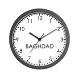 BAGHDAD Modern Newsroom Wall Clock