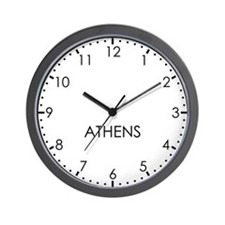 ATHENS Modern Newsroom Wall Clock