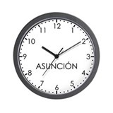ASUNCION Modern Newsroom Wall Clock