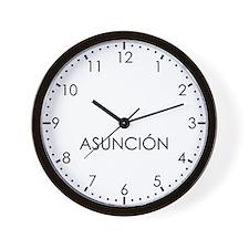 ASUNCION Modern Newsroom Wall Clock