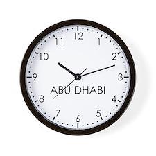 ABU DHABI Modern Newsroom Wall Clock