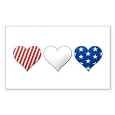 Red, white & blue Rectangle Decal