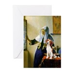 Woman w/Pitcher - Beagle Greeting Cards (Pk of 20)