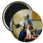 Woman w/Pitcher - Beagle Magnet