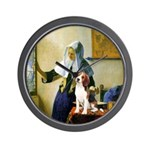 Woman w/Pitcher - Beagle Wall Clock