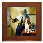 Woman w/Pitcher - Beagle Framed Tile