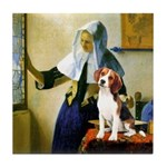 Woman w/Pitcher - Beagle Tile Coaster