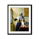 Woman w/Pitcher - Beagle Framed Panel Print