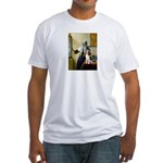 Woman w/Pitcher - Beagle Fitted T-Shirt