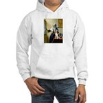 Woman w/Pitcher - Beagle Hooded Sweatshirt