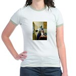 Woman w/Pitcher - Beagle Jr. Ringer T-Shirt