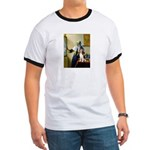 Woman w/Pitcher - Beagle Ringer T