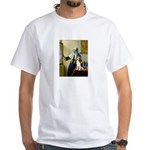Woman w/Pitcher - Beagle White T-Shirt