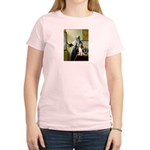 Woman w/Pitcher - Beagle Women's Light T-Shirt