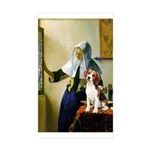 Woman w/Pitcher - Beagle Sticker (Rectangle 50 pk)