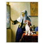 Woman w/Pitcher - Beagle Small Poster