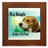 Beagle Lover Gifts Framed Tile