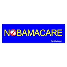 NoBamaCare Bumper Bumper Sticker