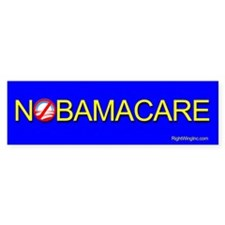 NoBamaCare Bumper Car Sticker