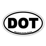 DOT Wyandotte County Kansas Euro Oval Decal
