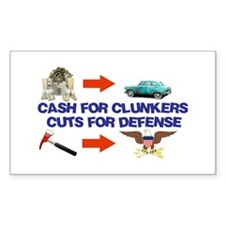 Cash Clunkers Rectangle Sticker 10 pk)