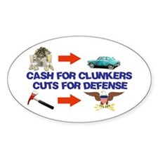 Cash Clunkers Oval Sticker (50 pk)