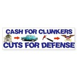 Cash Clunkers Bumper Sticker (50 pk)