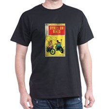 "Multi-Color T-Shirt-""Dykes on Bikes"""