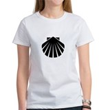 Black Scallop Tee