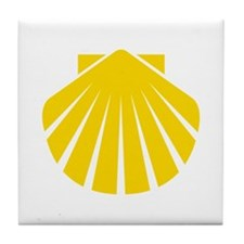 Yellow Scallop Tile Coaster