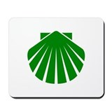 Green Scallop Mousepad