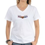 Scrap Force Scrapbooking Store Women's V-Neck T-Sh