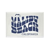 Malibu Beach California Rectangle Magnet
