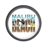 Malibu Beach Wall Clock