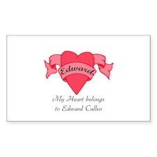 My Heart belongs to Edward Rectangle Decal