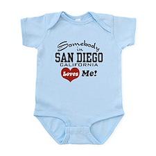 Somebody In San Diego Loves Me Infant Bodysuit