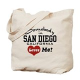 Somebody In San Diego Loves Me Tote Bag