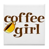 Coffee Girl Tile Coaster