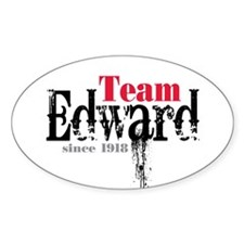 Team Edward Since 1918 Oval Sticker (50 pk)