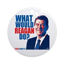 What Would Reagan Do? Design Ornament (Round)