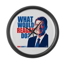 What Would Reagan Do? Design Large Wall Clock