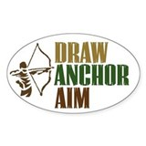 Draw. Anchor. Aim. Oval Decal