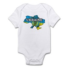 Map Of Ukraine Infant Bodysuit