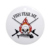 Fish Fear Me Ornament (Round)