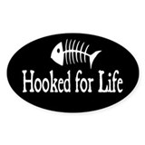 Hooked for Life Oval Decal